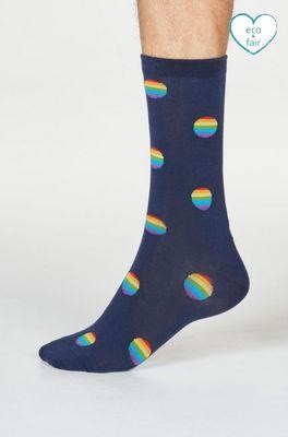 Thought sokken rainbow  blauw