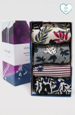 Thought sokken rasmine floral sock box multi