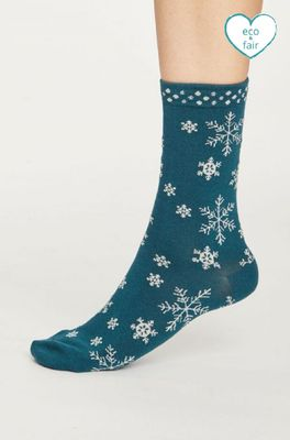 Thought sokken snowflake petrol