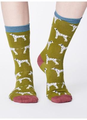 Thought sokken dalmation groen
