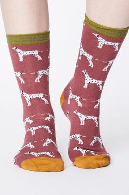 Thought sokken dalmation roze