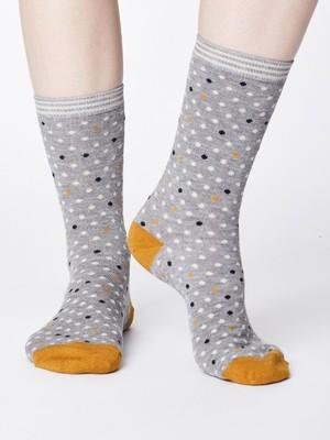 Thought sokken niven grijs