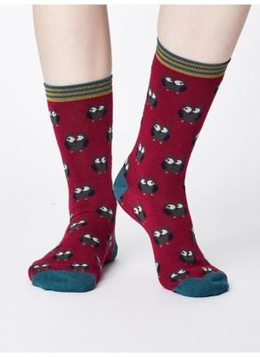 Thought sokken owlie bordeaux