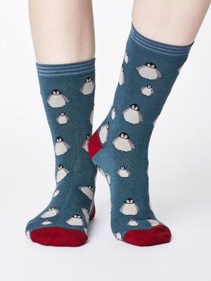 Thought sokken penguin groen