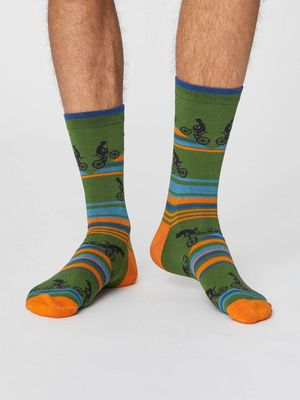 Thought sokken uphill bicycle socks groen