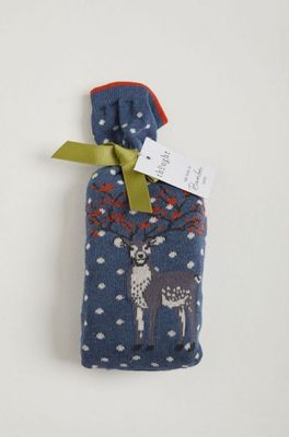 Thought winter deer socks in a bag multicolour