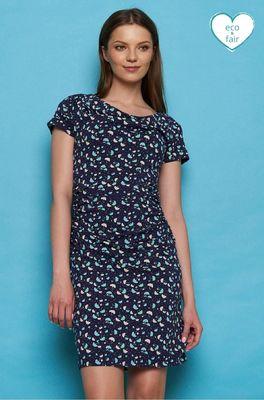 Tranquillo jurk patraea blauw