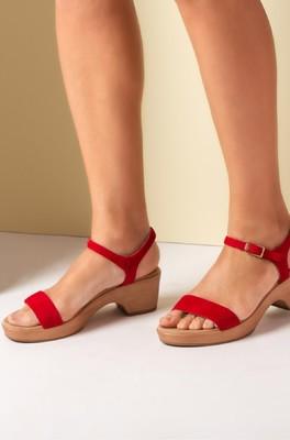 Unisa sandaal irita rood