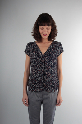UVR Connected top rona blauw