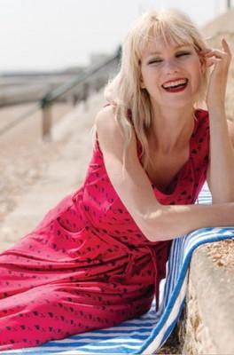 Vacant jurk flossie rood