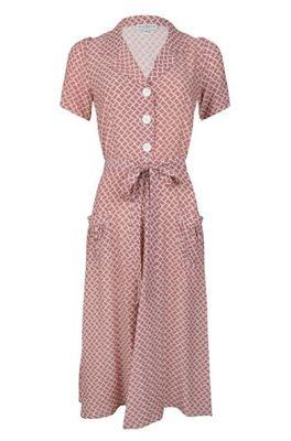 Very Cherry jurk revers dress midi roze