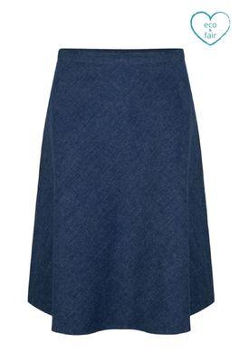 Very Cherry rok a line skirt blauw