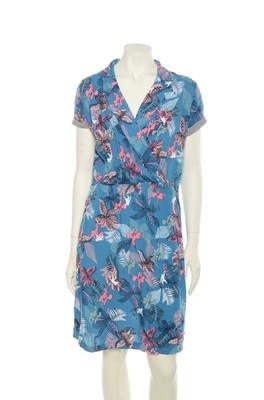 Vila Joy jurk Tropi blauw