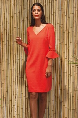 Wax jurk celine oranje