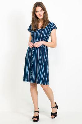 Wax jurk flory net well blauw