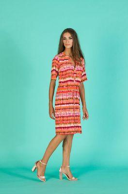 Wax jurk hopper multicolor