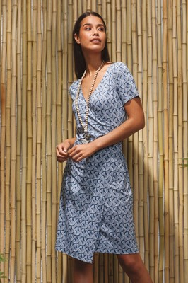 Wax jurk mossey blauw