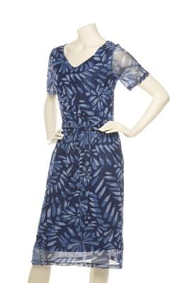Wax jurk pasia blauw