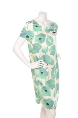 Wax jurk persey groen