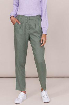 White Stuff broek maddie linnen groen