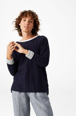White Stuff trui masterful jumper blauw