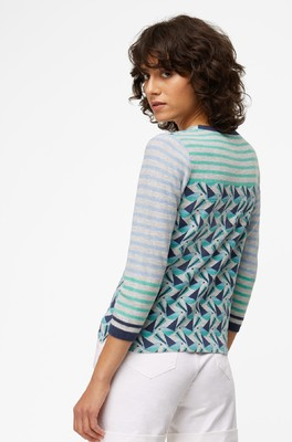 White Stuff vest pier cardigan multi