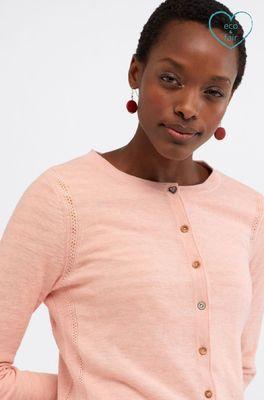 White Stuff vest sketch organic cardi roze