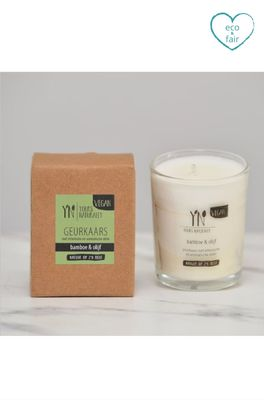 Yours naturally geurkaars votive bamboe en olijf