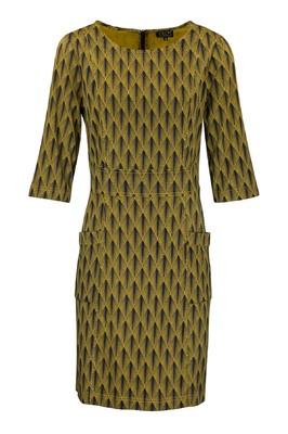 Zilch jurk deco geel