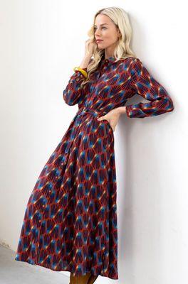 Zilch jurk dress long multicolor