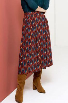 Zilch rok skirt midi multicolor