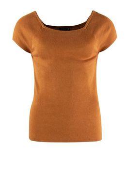 Zilch top short sleeve bruin