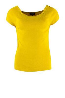 Zilch top short sleeve geel
