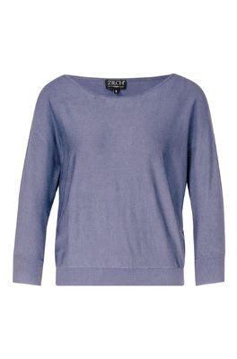 Zilch trui sweater batsleeve blauw