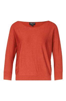 Zilch trui sweater batsleeve bruin