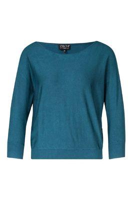 Zilch trui sweater batsleeve petrol