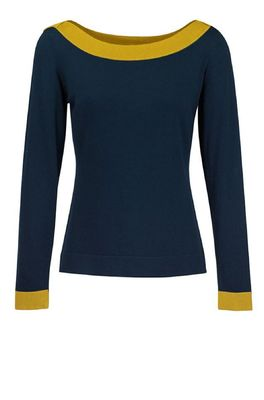 Zilch trui sweater boatneck blauw