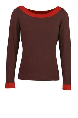 Zilch trui sweater boatneck bordeaux