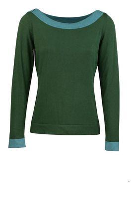 Zilch trui sweater boatneck groen