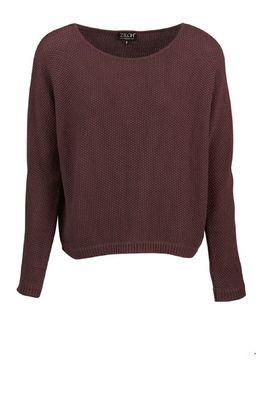Zilch trui sweater bordeaux