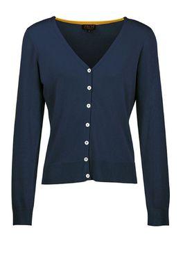 Zilch vest cardigan v neck blauw
