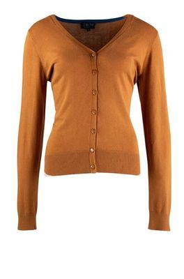 Zilch vest cardigan v neck bruin