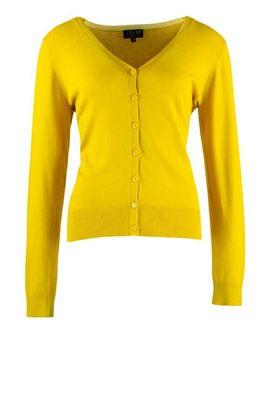 Zilch vest cardigan v neck geel