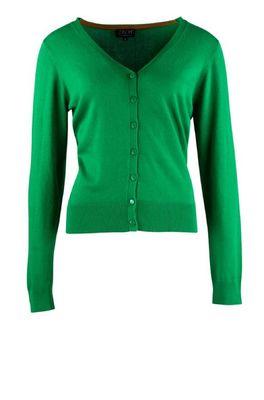 Zilch vest cardigan v neck groen