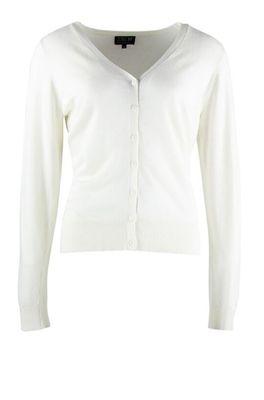 Zilch vest cardigan v neck wit