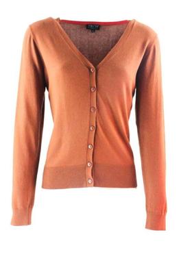 Zilch vest v-neck bruin