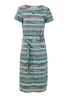 Lily & Me jurk ekend tshirt dress stone waves multicolor