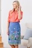 Lily & Me rok  pencil skirt snowshill meadow blauw