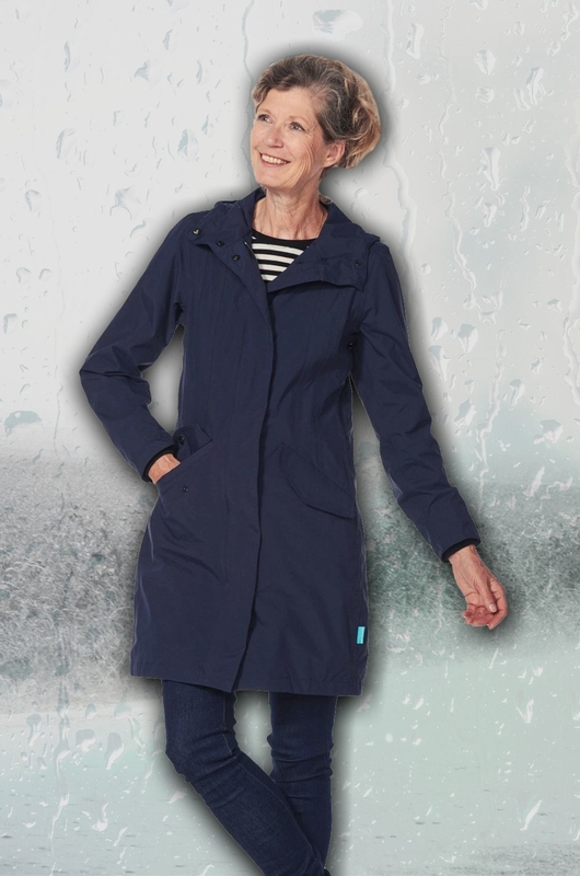 Happy Rainy Days jas madonna parka blauw