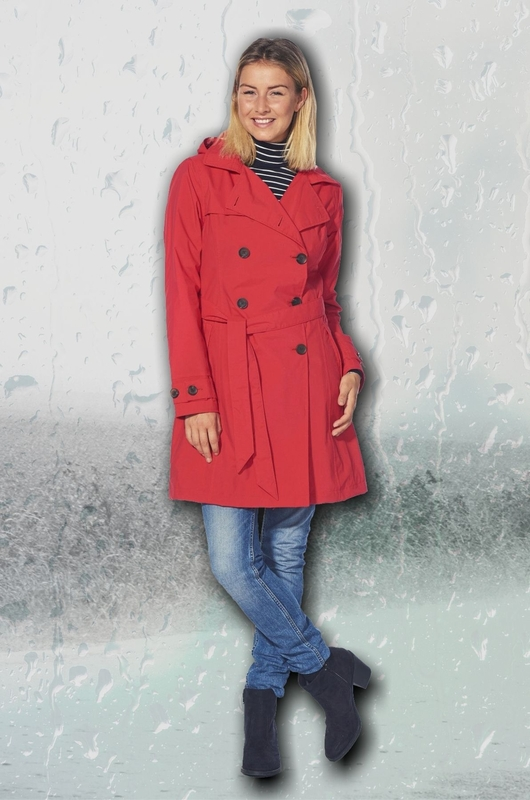 Happy Rainy Days jas rosa trenchcoat rood